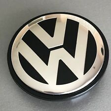 Black Chrome VW Volkswagen Wheel Center Hub Cap Golf Jetta GTI Passat CC 65MM