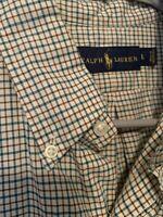 Mens Polo Ralph Lauren Long Sleeve Check Button Up Shirt Cotton Size Medium M