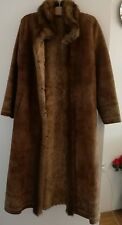 Faux Shearling Winter Coat High Quality - 130cm long Light Brown