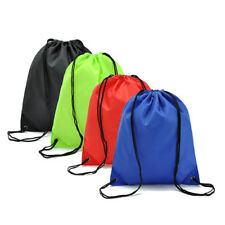 Water-proof Drawstring Backpack Hiking Cycling Portable Rucksack Gym School Book