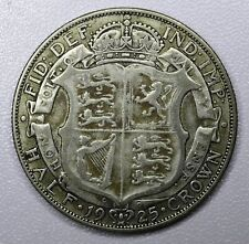Great Britain 1/2 Crown 1925 VF silver KM#818.2 toning