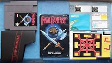 FINAL FANTASY NINTENDO NES 1990 w/MANUAL, SLEEVE & MAPS ACTUAL PICTURES TESTED