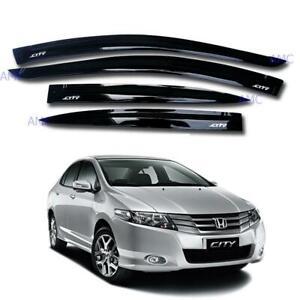 Honda City S Ballade Gm2/3 Sedan 4 Door Visor Rain Wheather Guard Black Tint