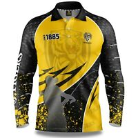 AFL 2020 Long Sleeve Fishing Polo Tee Shirt - Richmond Tigers - Adult Youth