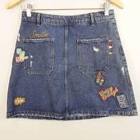 ZARA | Womens Patch Denim Skirt [ Size S or AU 10 / US 6 ]