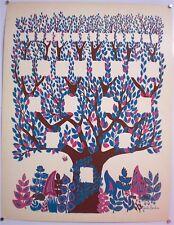 JOSETTE BARDOUX –ARBRE GENEALOGIQUE– ŒUVRE UNIQUE- SIGNE-TRES RARE - CIRCA 1970