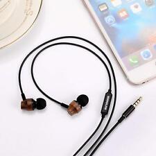 ELFINEAR Wood Earphones,HiFi In-ear Noise-isolating earbuds with Microphone & Vo