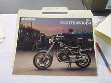 NOS Honda 1982 NIGHTHAWK 450   DEALER SALES BROCHURE