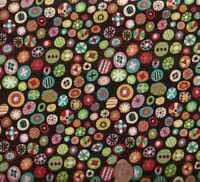Really really retro colorful funky dots circles Elizabeth Studio fabric