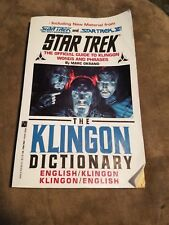 Conversational Klingon Dictionary Michael Dorn/Marc Okrand (1992) Star Trek