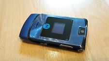 Motorola RAZR v3i en azul/foliert/sin bloqueo SIM con cualquier sim utilizable...