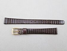 Speidel 10mm lady's brown genuine lizard watch band strap made in Canada NOS