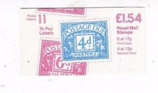 QE II Folded Booklets - £1.54 BOOKLET Postal History SERIES FQ1A - FQ4A
