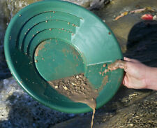 "14"" Green Plastic Gold Pan Nugget Mining Dredging Prospecting River Panning"