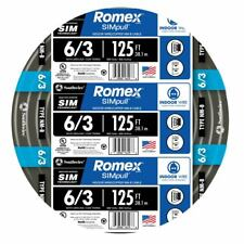 Southwire Romex 125-ft 6-3 600 Volts & 6 AWG Non-Metallic Black Wire With Ground