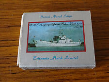 Vintage Match Box Label - British Naval Ships - No.79 HMS Anglesey