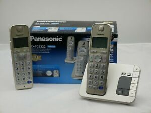 Panasonic KX-TGE222GN Seniorentelefon Champagner schnurlos Telefon AB
