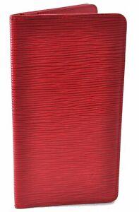 Authentic Louis Vuitton Epi Long Wallet Purse Red LV D9001