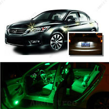 For Honda Accord 2003-2012 Green LED Interior Kit +Xenon White License Light LED