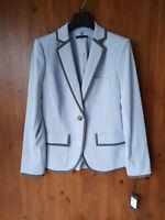 RRP £110 - TOMMY HILFIGER JACKET Baby Blue Jersey Blazer Ladies UK 8 / 36 - NEW