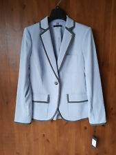 RRP £110 - TOMMY HILFIGER JACKET Baby Blue Jersey Blazer Ladies UK 8 / 36 - NEW