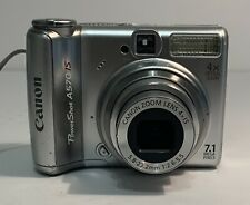 Canon PowerShot A560 7.1MP Digital Camera - Silver With Denali Case Tested Works