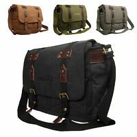 High Quality Ocello Canvas School Work College Satchel Dispatch Messenger Bag