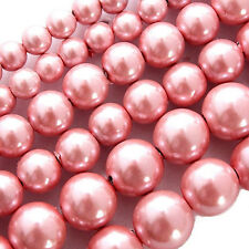MAGNETIC HEMATITE BEADS PEARLIZED PINK 4MM ROUND HIGH POWER BEAD STRAND HPINK