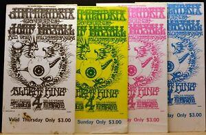LOT 4 Complete February 1-4 1968 JIMI HENDRIX Flying Eyeball Rick Griffin BG-105