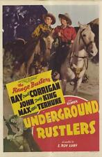 UNDERGROUND RUSTLERS Movie POSTER 27x40 Ray Corrigan John 'Dusty' King Max