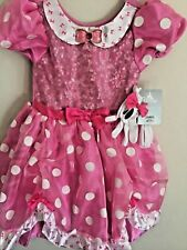 DISNEY STORE USA NEW 5-7 years MINNIE MOUSE FANCY DRESS Up GIRLS + Gloves UK