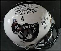 Ray Guy Hand Signed Auto Oakland Raiders Full Size Helmet JSA WP3718226 8/8
