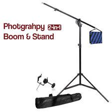 2-in-1 Photo Studio Boom Light Stand & Sandbag Combo w/ Universal U-Clamp New