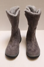 Womens Grey Suede Boots with Fur Lining Textile Upper Balance Man Made