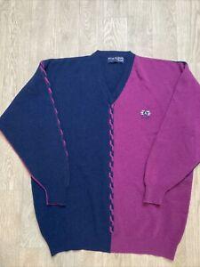 Vintage Nick Faldo Golf Pringle Knitted Wool Jumper Sweater Wool Size Large