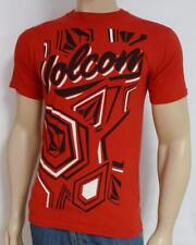 Volcom Stone Sounder Red Cotton T-Shirt New NWT Mens Small