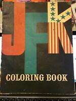 VTG 1962 JFK Coloring Book-UNUSED-Kanrom Inc Mort Drucker Art - John F Kennedy