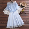 Preppy Style Sweet Cute Loli Girl Dress Student Short Sleeve Dresses Japanese