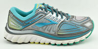 WOMENS BROOKS GLYCERIN 13 G13 RUNNING SHOES SIZE 7.5 US 38.5 EU GRAY BLUE WHITE
