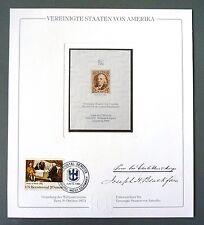 USA No. 1 OFFICIAL REPRINT UPU CONGRESS 1984 MEMBERS ONLY !! RARE !! z1060