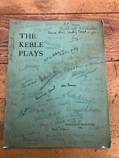 More details for the keble plays production 1936 . many signitures ! ( oxford university )