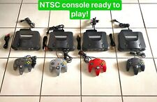 Nintendo 64 Console Original N64  NTSC + Cords + 1 OEM Controller  Tested! Works