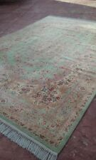 Gorgeous Antique Rare Green Oriental Karastan Rug Full Pile Very Fine 12' x 9'