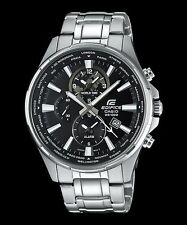 EFR-304D-1A Black Casio Edifice Men's Watch Steel Band Analog Brand-New100m