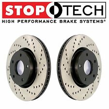 For Jaguar S-Type Lincoln LS Thunderbird Front Drilled Brake Rotors Set StopTech