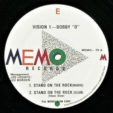 "BOBBY O / BOBBY ORLANDO / VISION 1 - STAND ON THE ROCK  12"" 45 VG++ Rare Electro"