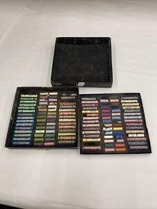 Rembrandt Soft Pastel Cardboard Box Set 60 Half / 60 Full Stick Selection