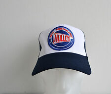 Holley Carbs,Trucker Hat,High Performance,Navy,Racing,Muscle Car,V8,Old School