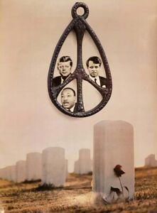 1968 John & Robert Kennedy & Martin Luther King Anti War Peace Poster