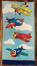 BRAND NEW! Airplanes Beach Towel 100% Cotton 31x59 FREE SHIPPING!